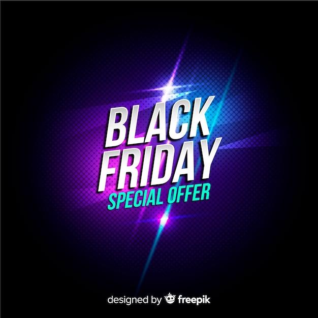 Banner black friday vector gratuito