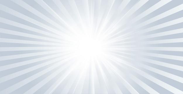 Banner brillante resplandor gris con rayos estallando vector gratuito