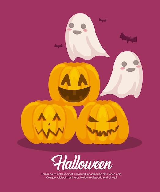 Banner de celebración de halloween vector gratuito