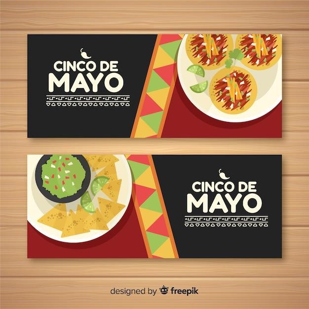 Banner del cinco de mayo vector gratuito