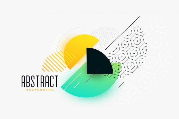 Banner circular de estilo moderno vibrante de memphis vector gratuito