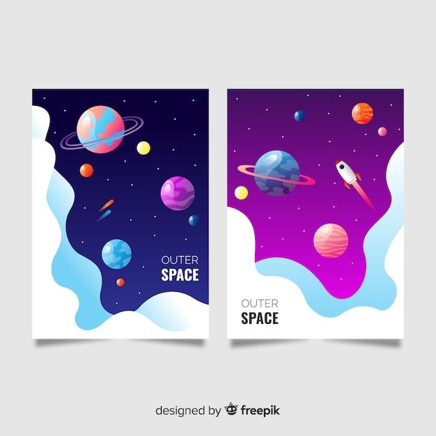 Banner colorido espacio exterior vector gratuito