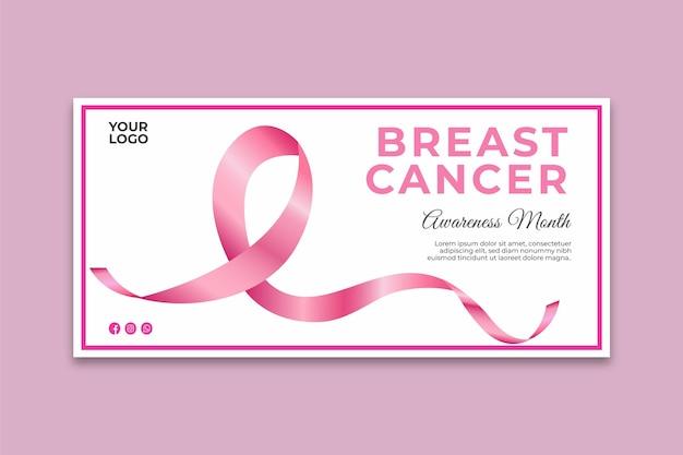 Banner de concientización sobre el cáncer de mama vector gratuito