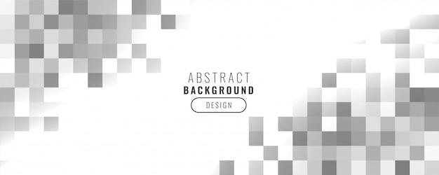 Banner de cuadrados de estilo empresarial mosaico abstracto vector gratuito