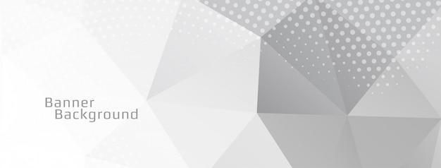 Banner decorativo de polígono geométrico de color gris vector gratuito