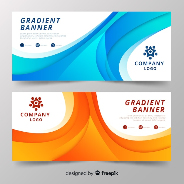 Banner degradado vector gratuito