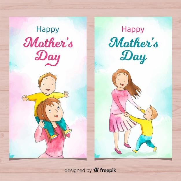 Banner del día de la madre vector gratuito