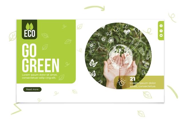 Banner ecológico ambiental. vector gratuito