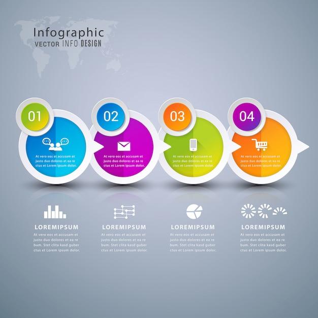 Banner de elemento de infografía moderna. Vector Premium