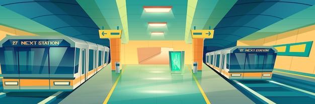 Banner de la estación de metro de metro de la ciudad vector gratuito