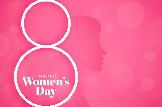 Banner de evento de día de mujer feliz rosa precioso vector gratuito