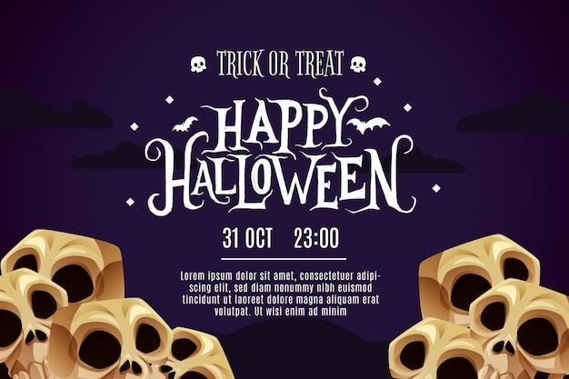 Banner de feliz halloween vector gratuito