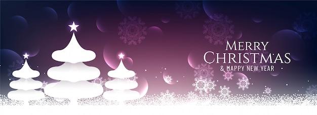 Banner de festival elegante abstracto feliz navidad vector gratuito