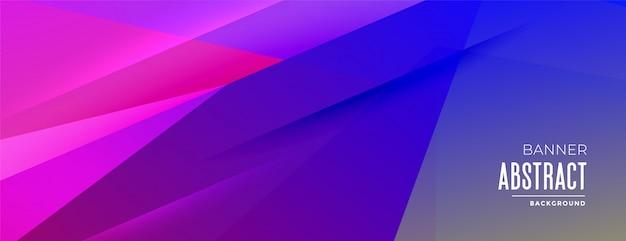 Banner de fondo de formas geométricas abstractas en colores vibrantes vector gratuito