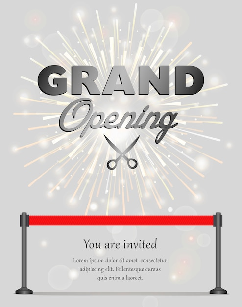 Banner de gran apertura Vector Premium