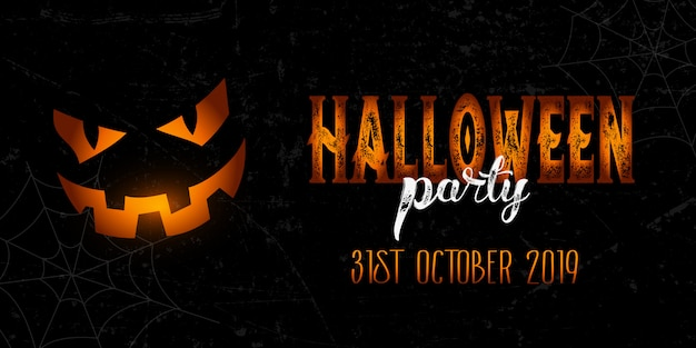 Banner de halloween grunge vector gratuito