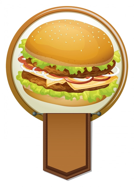 Banner de una hamburguesa Vector Premium