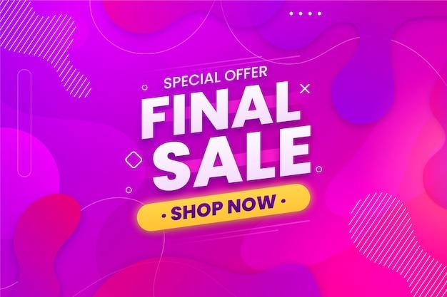 Banner horizontal venta final vector gratuito