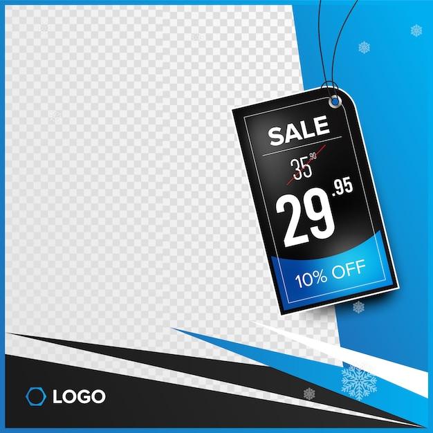 Banner de instagram con etiqueta de precio Vector Premium