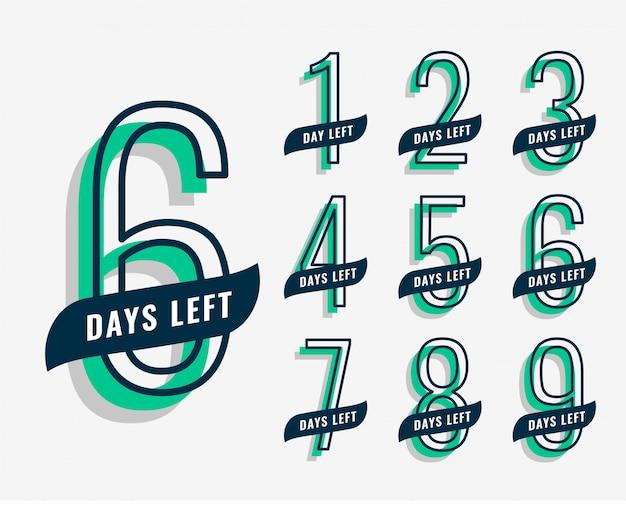 Banner de marketing de eventos próximos con número de días restantes vector gratuito