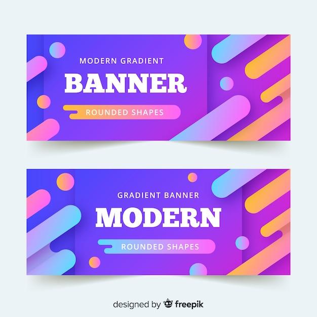 Banner moderno gradiente vector gratuito