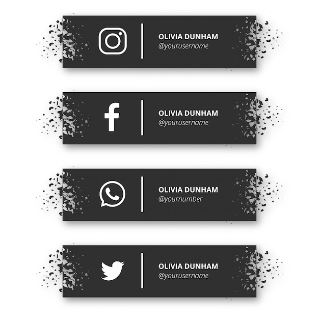 Banner moderno de redes sociales vector gratuito