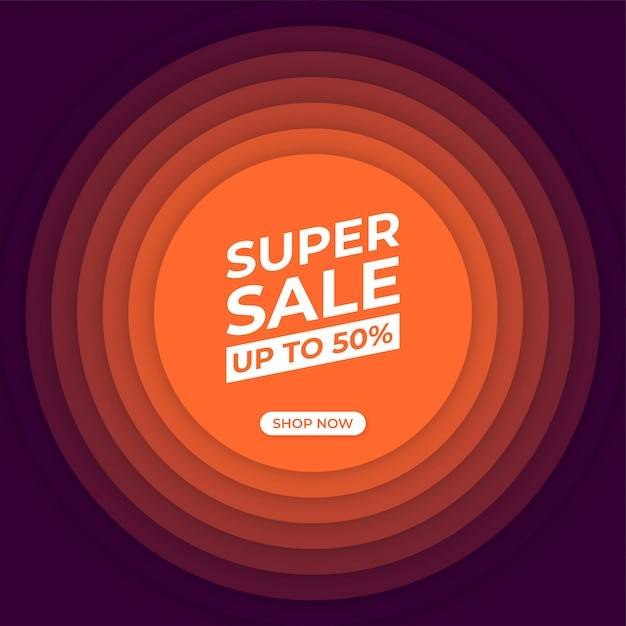 Banner moderno de super venta Vector Premium