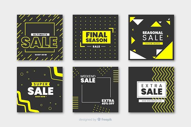 Banner moderno de venta para redes sociales. vector gratuito
