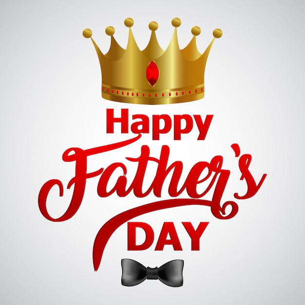 Banner o cartel para el feliz día del padre Vector Premium