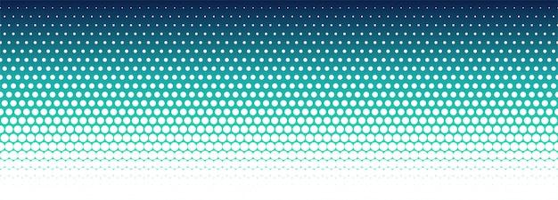 Banner de patrón de semitono colorido abstracto vector gratuito
