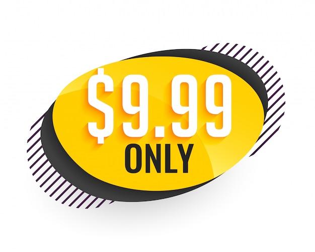 Banner de precio de oferta en estilo moderno vector gratuito