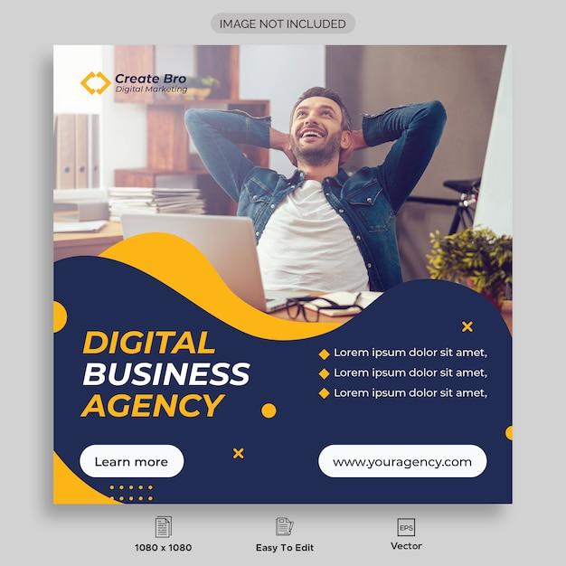 Banner de publicación de redes sociales de marketing empresarial Vector Premium