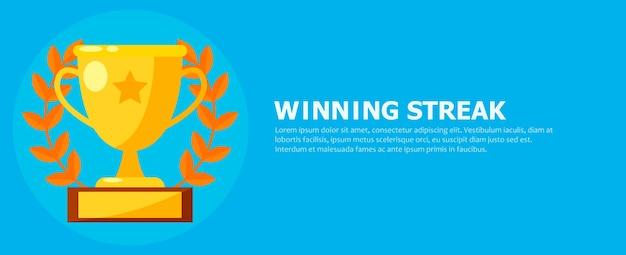 Banner de racha ganadora vector gratuito