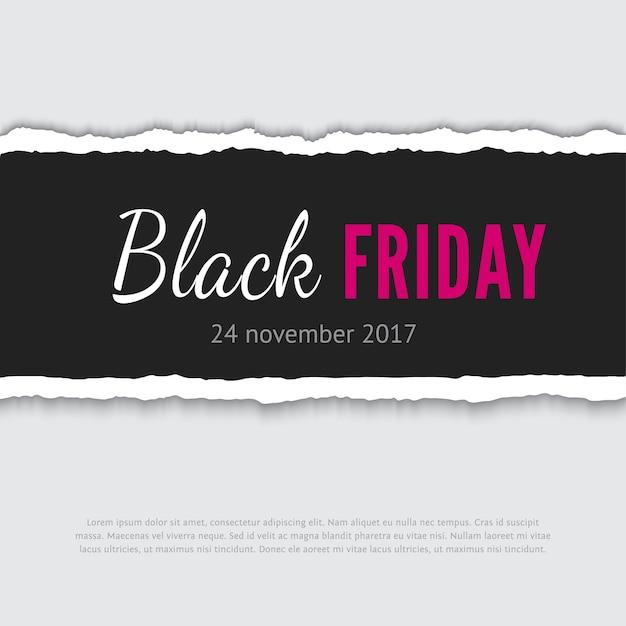 Banner de rebajas de viernes negro Vector Premium