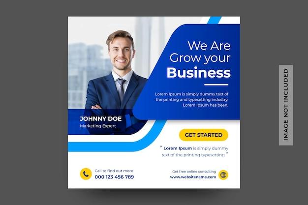 Banner de redes sociales de agencia de marketing digital Vector Premium