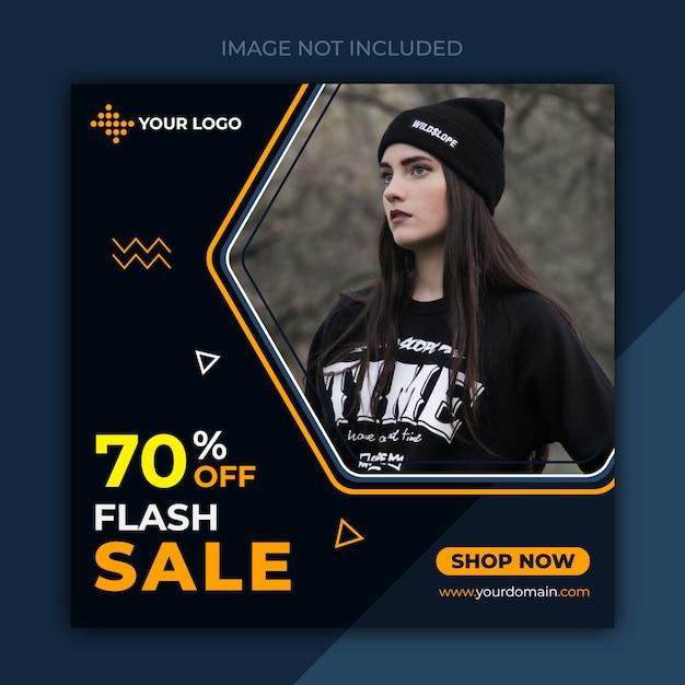Banner de redes sociales para plantilla de ropa Vector Premium