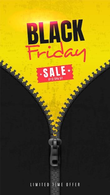 Banner de redes sociales para el viernes negro vector gratuito