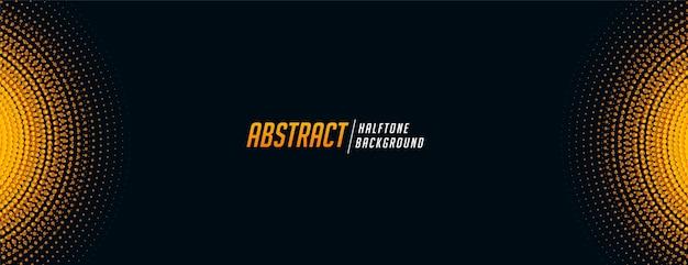 Banner de semitono abstracto en tono negro y amarillo vector gratuito