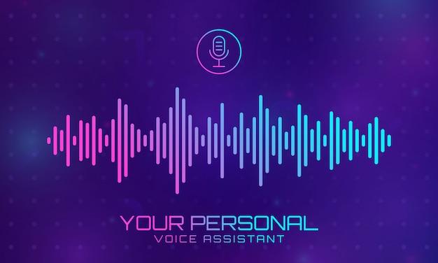Banner de señal de música de tecnología. Vector Premium