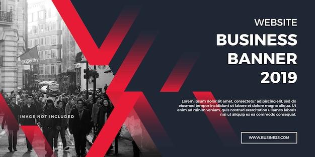 Banner de sitio web de negocios corporativos Vector Premium
