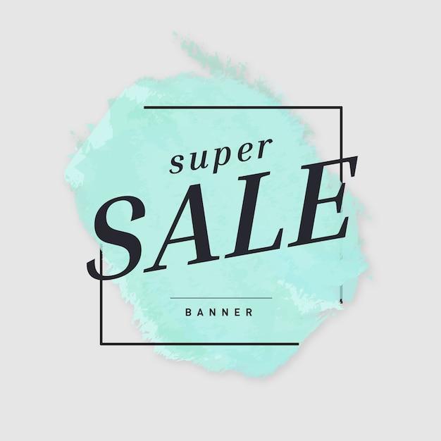 Banner de super venta vector gratuito