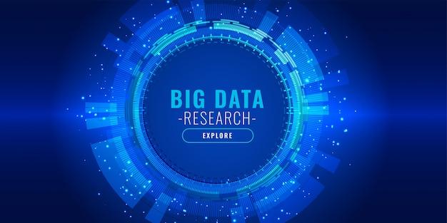 Banner de tecnología futurista visualización de datos vector gratuito