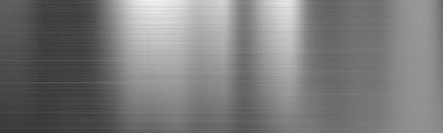 Banner de textura de degradado de acero metal cepillado Vector Premium