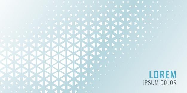 Banner triángulo abstracto vector gratuito