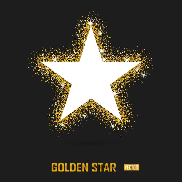 Banner de vector de oro sobre negro Vector Premium