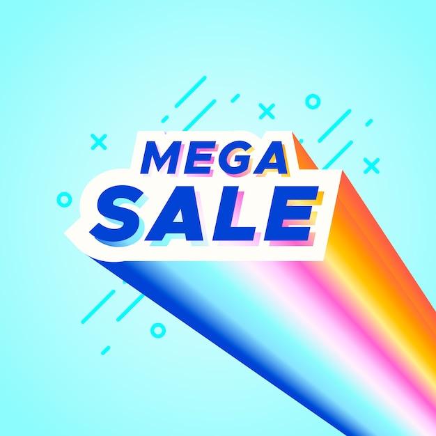 Banner de venta colorido vector gratuito