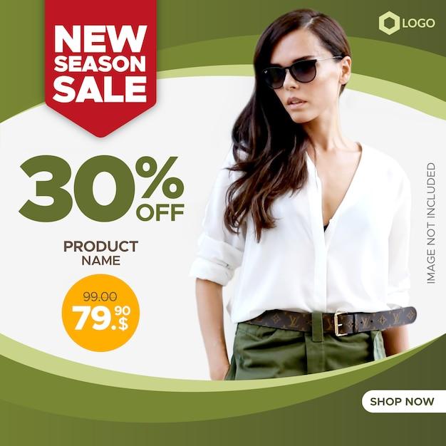 Banner de venta creativa con marco vacío para web y redes sociales Vector Premium