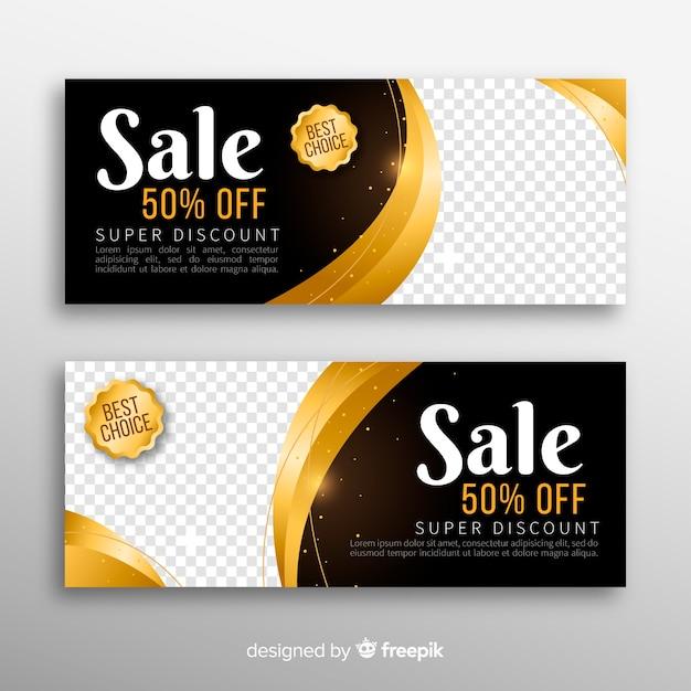 Banner de venta con descuento especial vector gratuito