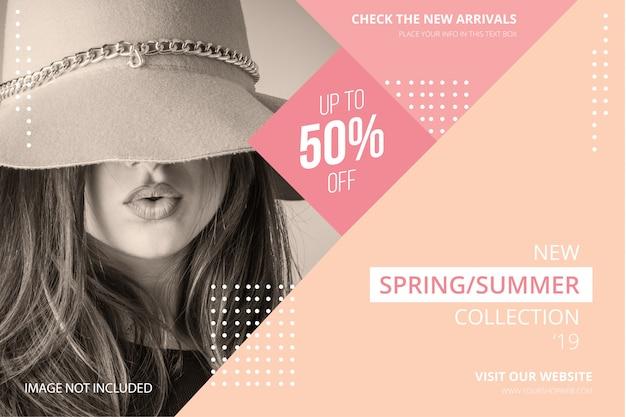Banner de venta de moda moderna vector gratuito
