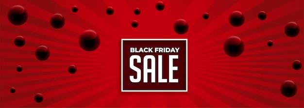 Banner de venta rojo abstracto viernes negro vector gratuito